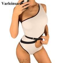 2020 New Una Spalla Sexy Cut-Out Delle Donne Costumi Da Bagno di Un Pezzo Costume Da Bagno Femminile Bagnante Costume Da Bagno di Nuotata Della Spiaggia di Usura Monokini v1616