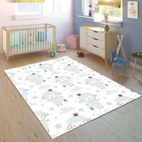 Else Little grey lampy chmury 3d drukuj antypoślizgowa mikrofibra dzieci dzieci pokój dekoracyjny dywan do składania Mat w Dywany od Dom i ogród na