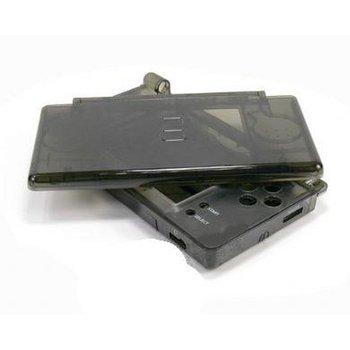 Carcasa Recambio para Nintendo DS Lite (NEGRO-TRANSPARENTE)