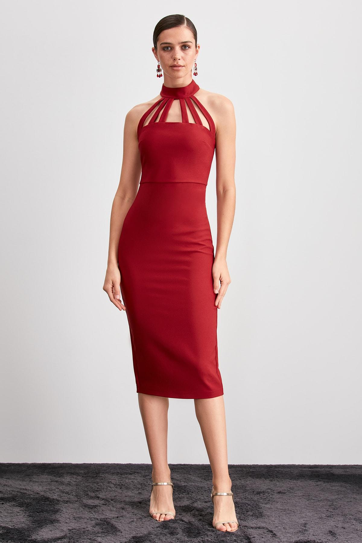 Trendyol Collar Detail Dress TPRAW20EL2172