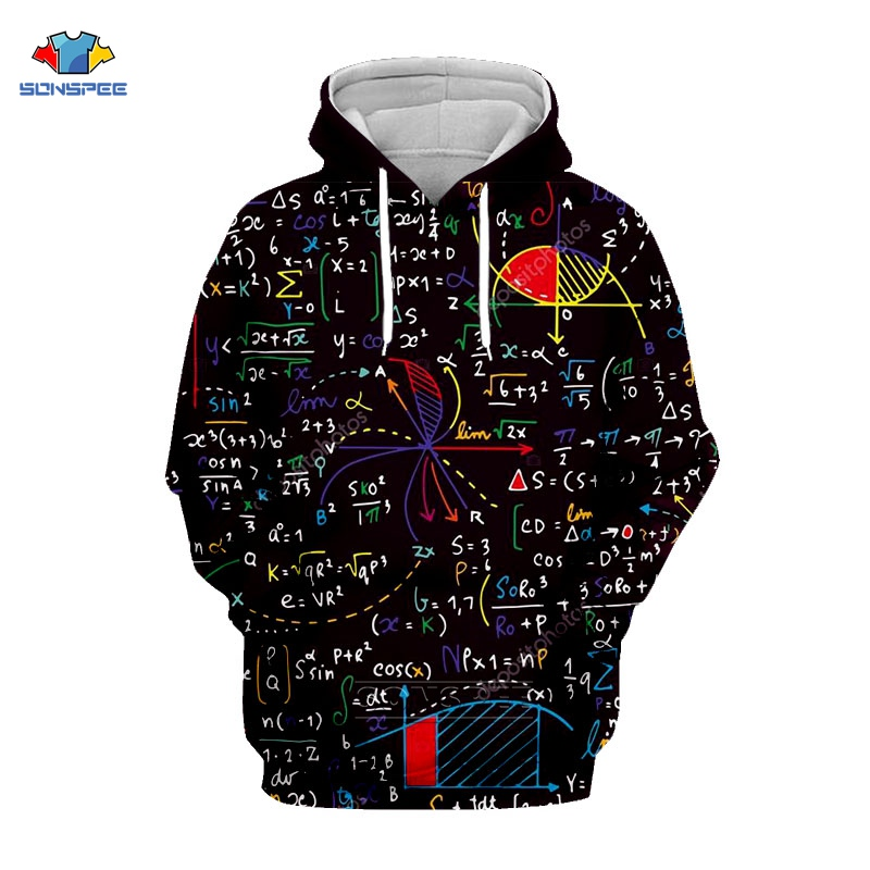 Fun Math Equation Formula Hoodie 3d Print Mens Hoodies Brand Comfort Harajuku Pullover Students Sweatshirt Sudaderas Hombre G66