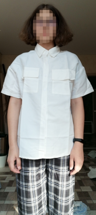 EBAIHUI 2021 Short Sleeve Shirt Women White Turn Down Collar Basic Casual Teen Gril Student Oversize Shirt Women Loose Blouse photo review