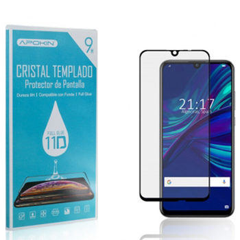 Cristal templado Full Glue 11D Premium Negro Xiaomi 9 9T Pro A1 A2 CC9 Mi CC9e A3 Lite Negro, Black