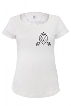 Angemiel Wear Lineal King Lion Pocket Cotton White Women 'S T-Shirt image