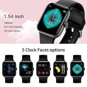 Image 2 - RUNDOING NY17 Reloj inteligente con pantalla táctil completa con caja de aleación de aluminio IP68 impermeable rosa para mujer reloj inteligente para Android IOS