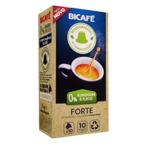 Coffee Forte Bicafé Biodegradable 10 capsules compatible with Nespresso