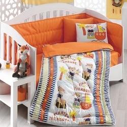 In Der Türkei PIRATE Infant Baby Krippe Bettwäsche Bumper Set Für Junge Mädchen Kindergarten Cartoon Tier Babybett Baumwolle Weiche antiallergic