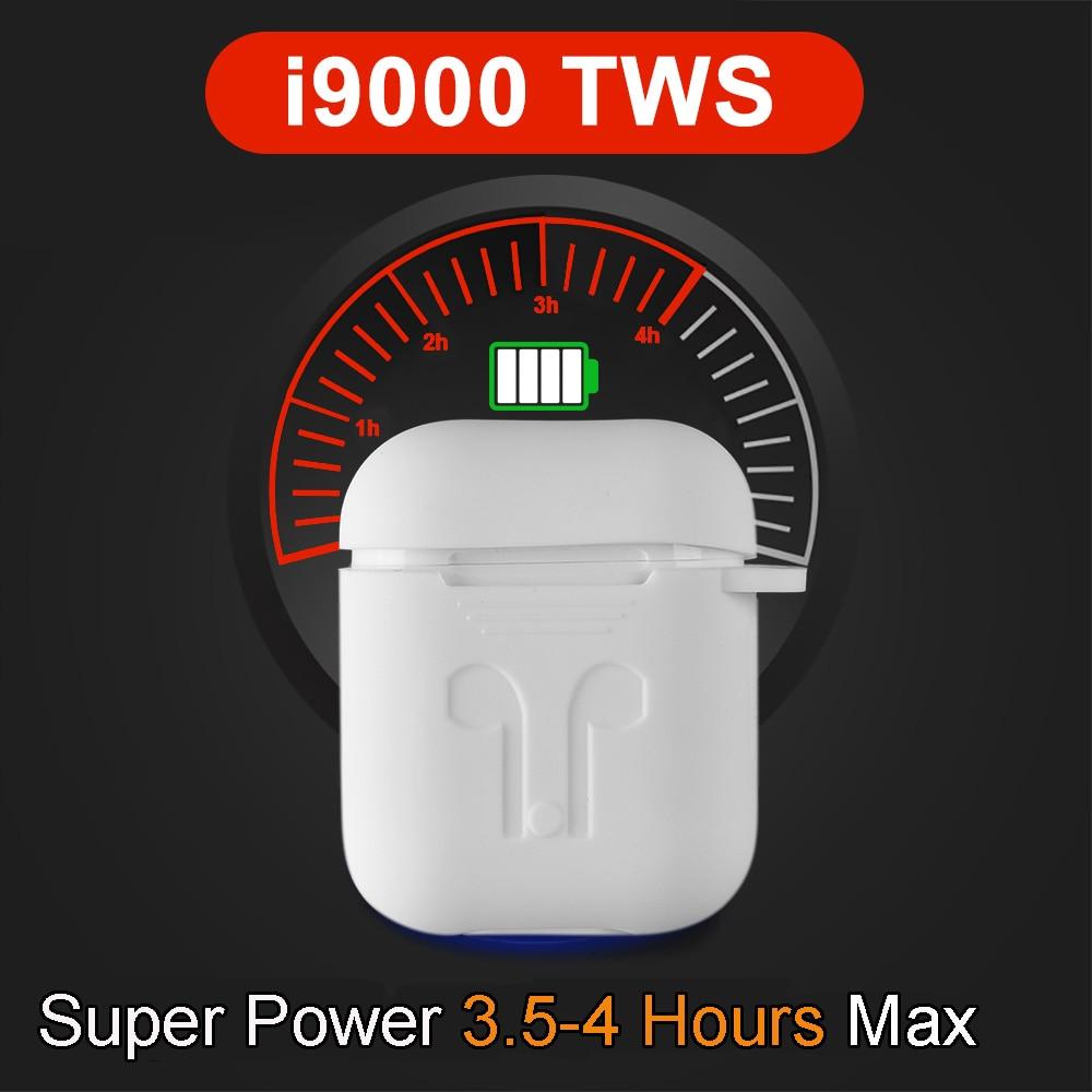 I9000 TWS In Ear Detection Pop-up Wireless Earphone 8D Super Bass Bluetooth 5.0 Earphones I9000 Aire 2 Earbuds PK I200 I500 TWS