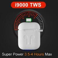 i9000 TWS Smart Sensor Pop up Wireless Earphone 8D Super Bass Bluetooth 5.0 Earphones i9000 tws Aire 2 Earbuds PK i200 i500 TWS