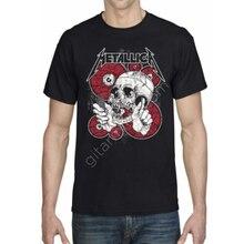 Metallica erkek t-shirt siyah baskılı organik türk pamuklu kumaş ilkbahar yaz sonbahar erkek bayan moda kaliteli şık solmaz