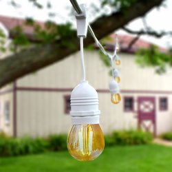 Ropelight Kit Waterproof 5.5m White + 8 LED light bulbs E27 Filament 4W