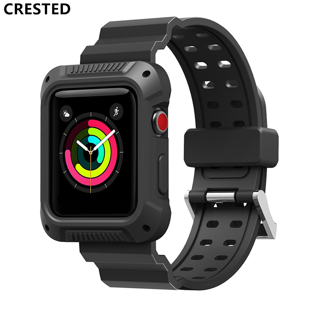 Case+ Strap For Apple Watch Band Pulseira Apple Watch 4 3 5 Band 44mm 40mm Iwatch 42mm/38mm Correa Protective Cover