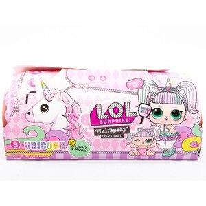 Капсула кукла лол большая lols единорог с волосами свет сюрприз подарок для девочки игрушка для детей ребенок 25 см серия музыка
