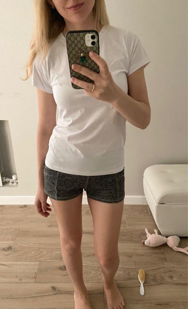 High Quality 18 Color S-3XL Plain T Shirt Women Cotton Elastic Basic T-shirts Female Casual Tops Short Sleeve T-shirt Women 002