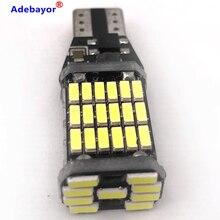 100 Chiếc T15 T10 45 LED SMD 4014 Tự Động Thêm Phanh Đèn Hỗ Đèn Xe Ô Tô Chạy Ban Ngày Ánh Sáng Trắng 12V 24V Xi Nhan CANBUS