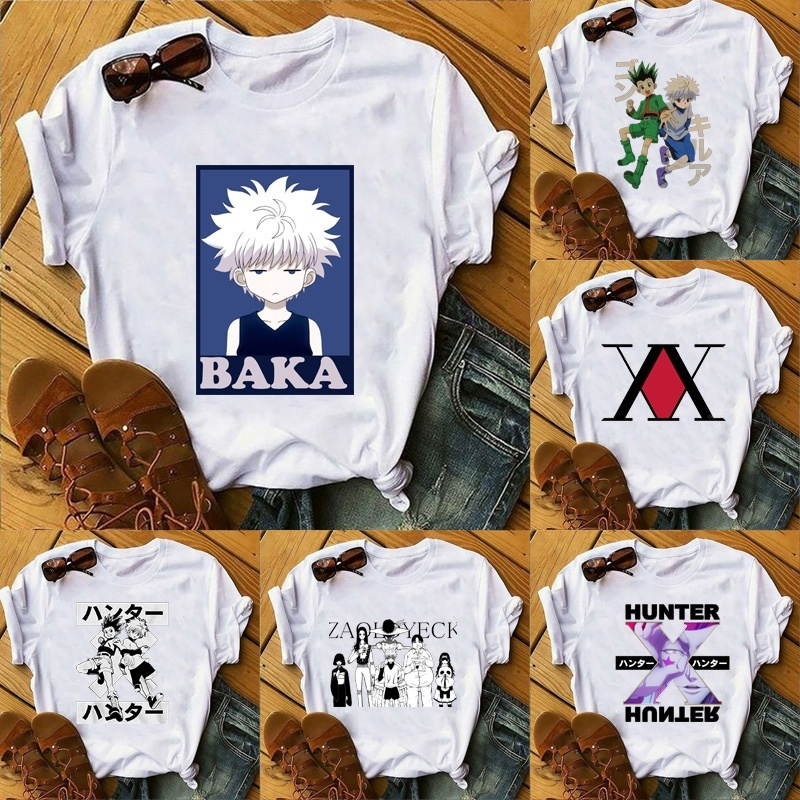 Hunter X Hunter Mens Womens T Shirt GON FREECSS Cosplay T-shirt New Anime Kurapika T Shirt Fashion Killua Zoldyck Tees