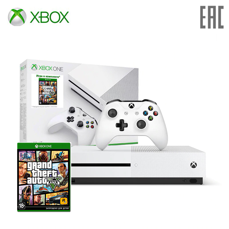 Game Console Xbox One S 1 TB Game GTA 5