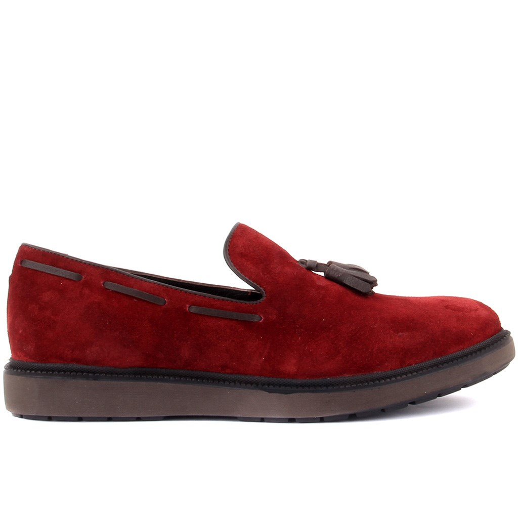 Sail-Lakers Burgundy Suede Men Casual Shoes