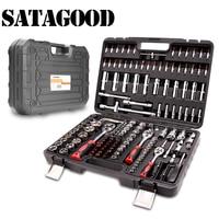 SATAGOOD Tool kit 172 items Tools Hand tool kit auto repair tool hand tool car tool tool kit for car auto tool head set tool set