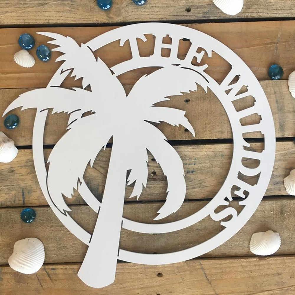 Wooden Sign Custom Beach Wedding