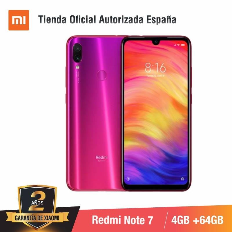 Купить Глобальная версия для Испании] Смартфон Xiaomi Redmi Note 7 (Memoria interna de 64 GB, ram de 4 GB, Camara dual trasera de 48 MP) на Алиэкспресс