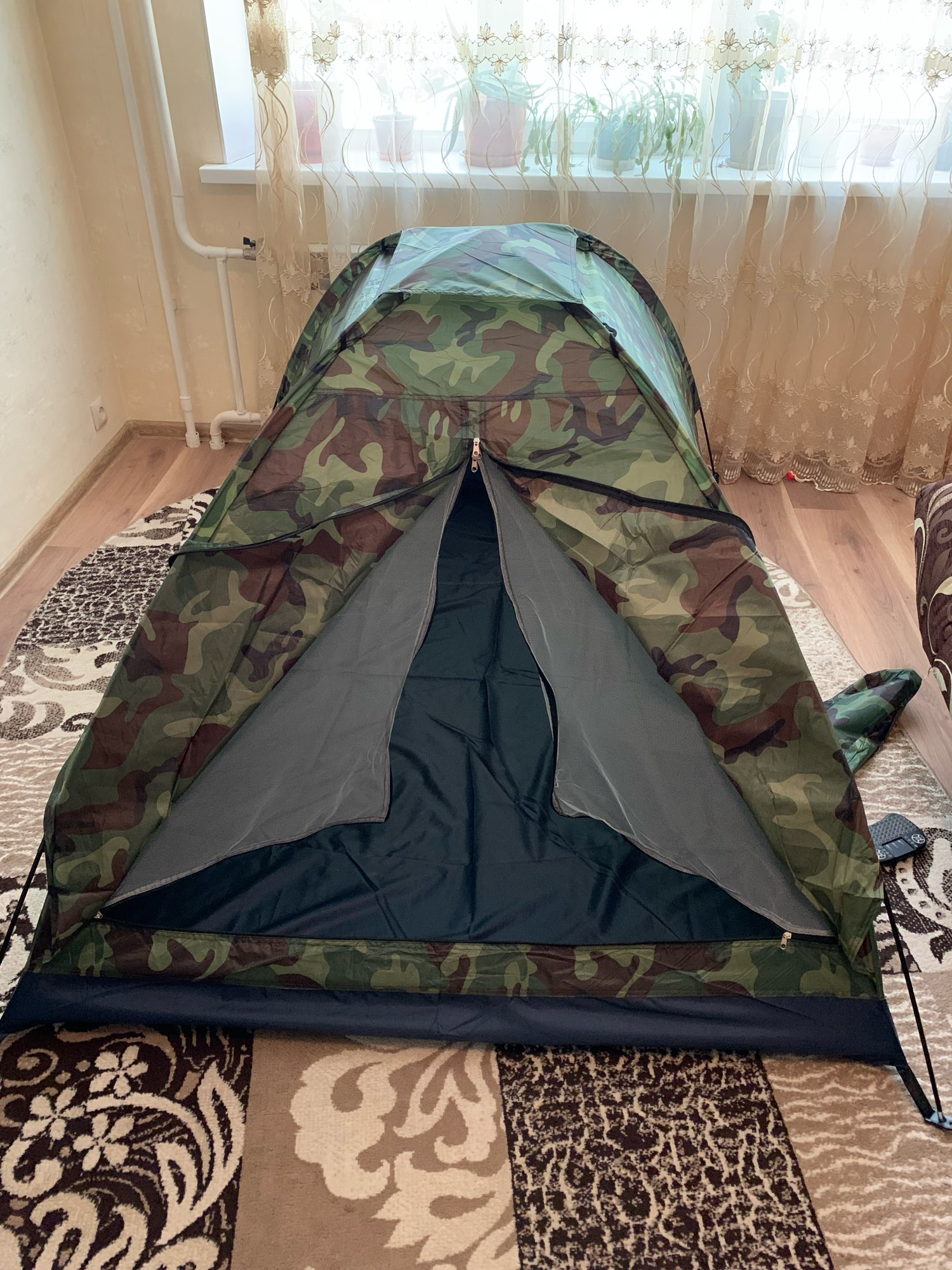 TOMSHOO 2 Person Tent Ultralight Single Layer Water Resistance Camping Tent PU1000mm with Carry Bag Hiking Traveling 3 Season
