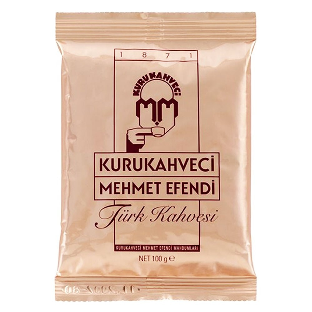 Turkish Coffee Kurukahveci Mehmet Efendi 100gr/3.5 Oz Traditional Turkish Coffee Ground Coffee Made In Turkey