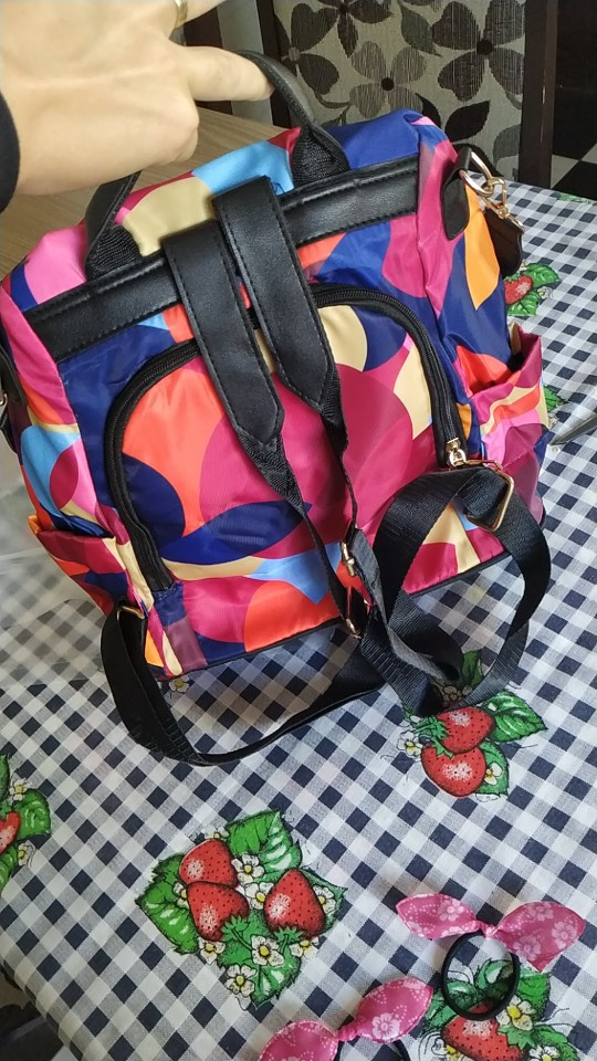 Sac à Dos Anti Pickpocket Multicolore photo review