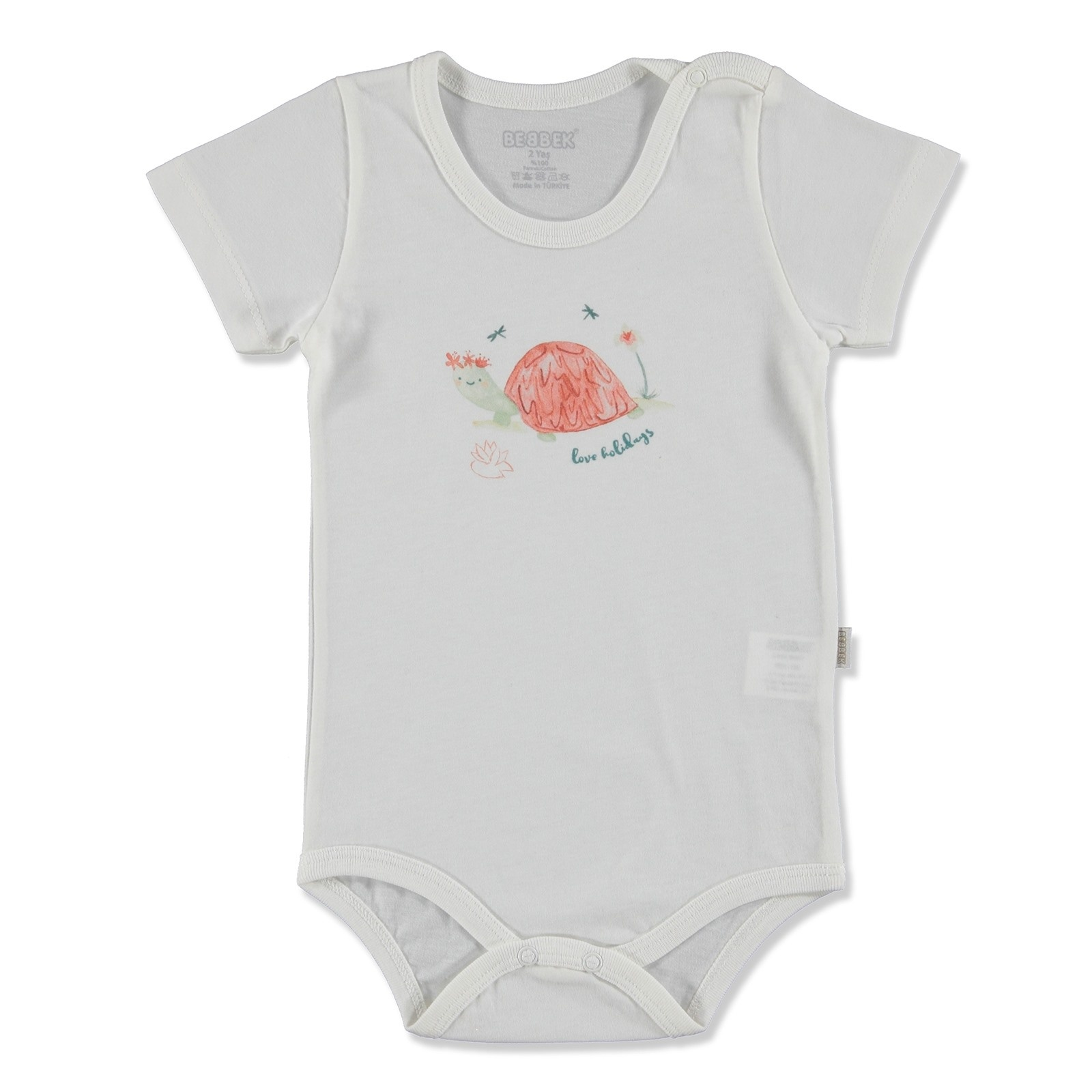 Ebebek Bebbek Summer Baby Girl Love Supreme Crew-Neck Bodysuit