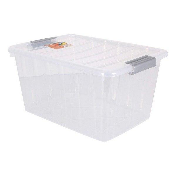 Storage Box with Lid Thais 30 L Transparent|Foldable Storage Bags| |  - title=