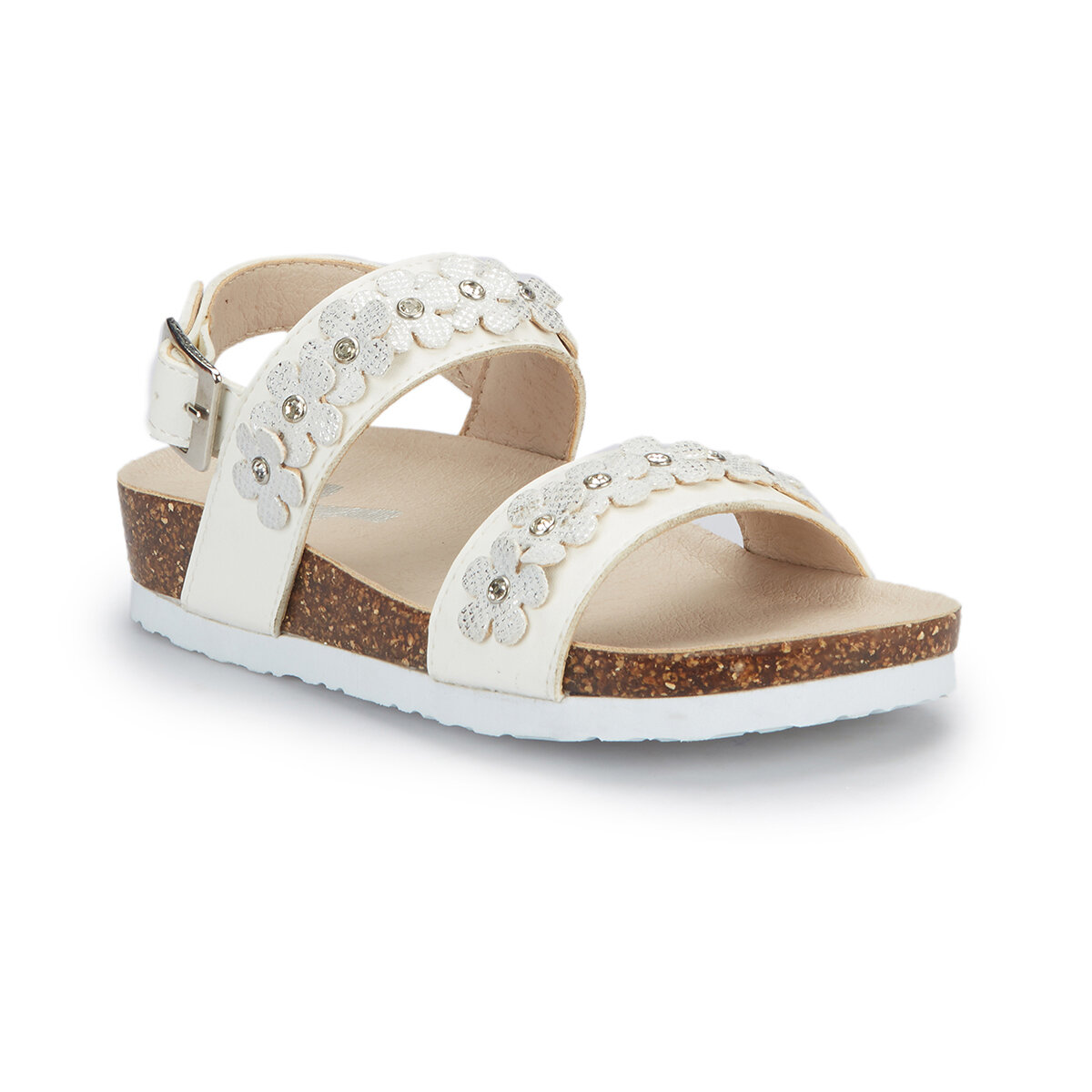 FLO NAKLOW White Female Child Sandals PINKSTEP