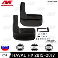 Frente paralama para HAVAL H9 2015 ~ 2019 2 pçs/set mud flaps respingo proteção sujeira do carro auto acessórios do carro styling|Estilo de cromo| |  -
