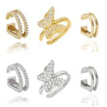 Boucles d'oreilles de luxe en argent Sterling 925 pour hommes et femmes, bijoux minimalistes à Clip, breloque, pour cadeau d'anniversaire