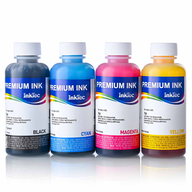 Чернила для принтера HP DESKJET 2320, 2710, 2720, 2721, 2723, заправка картриджей HP 305 /XL, Premium Ink 4 х 100 мл, комплект