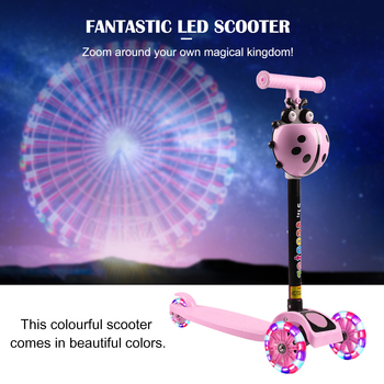 Kids Scooter Baby 3 Wheel T-Bar Balance Folding Flash Wheels Infant For Outdoor Toy Safety Shining Scooter Adjustable Toys Gift outdoor ride push exercise scooter children adult kickboard 2 wheels safety scooter fixed bar 360 degree street kid kick scooter