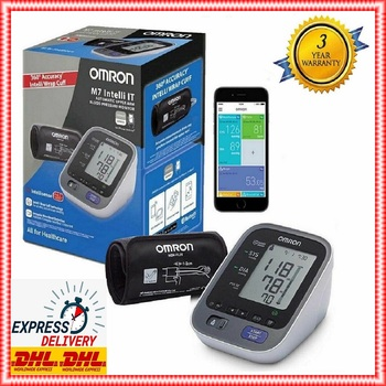 Omron Blood Pressure Monitor M7 Intelli IT Upper Arm with Wrap Cuff (22-42 cm) BRAND NEW in The ORIGINAL BOX Fast Delivery omron blood pressure monitor m7 intelli it upper arm with wrap cuff 22 42 cm brand new in the original box fast delivery