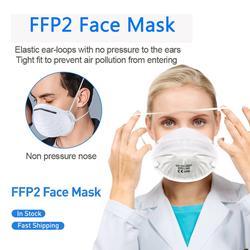 Máscaras faciales 20/60 Uds FFP2, antipolvo, protección no tejida, filtración 98% ffp2, cubierta bucal segura, transpirable, antibacterias, máscaras N95