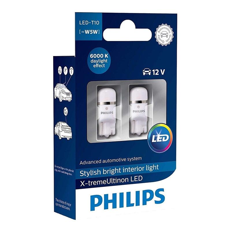 PHILIPS 127996000KX2 W5W 12V-LED 1,0W (W2, 1x9 5d) 6000K X-tremeVision 360 WBT10 (K. pacchetto. 2 pcs) 38935