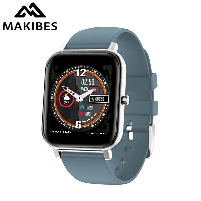 Makibes V20 1.4 Big Screen Smart Horloge Armband Hr Bloeddruk Gezondheid Waterdicht Polsband Fitness Tracker Voor Imiteren Gts