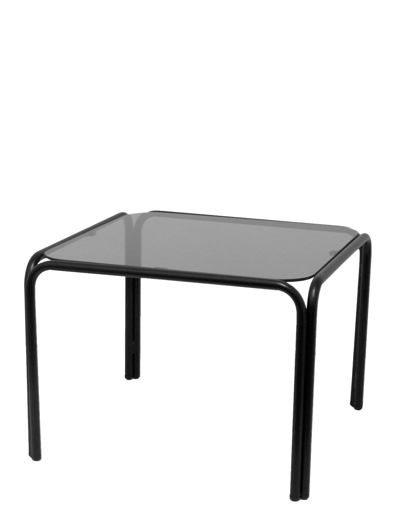 Reception Table Square Structure Black And Crystal Smoked PIQUERAS & CURLED Model Ibañez