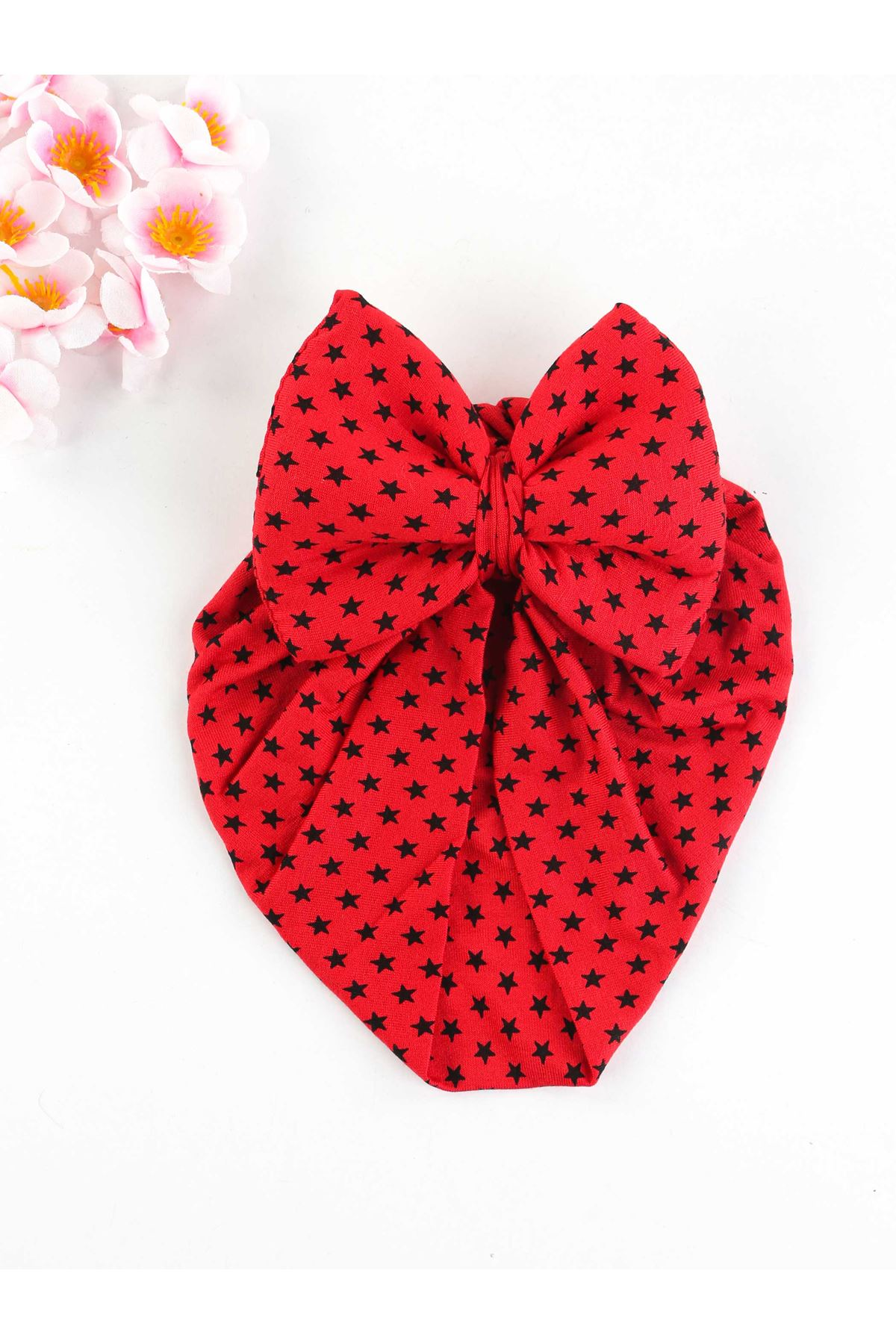 Red Bow Girl Baby Bathing Cap