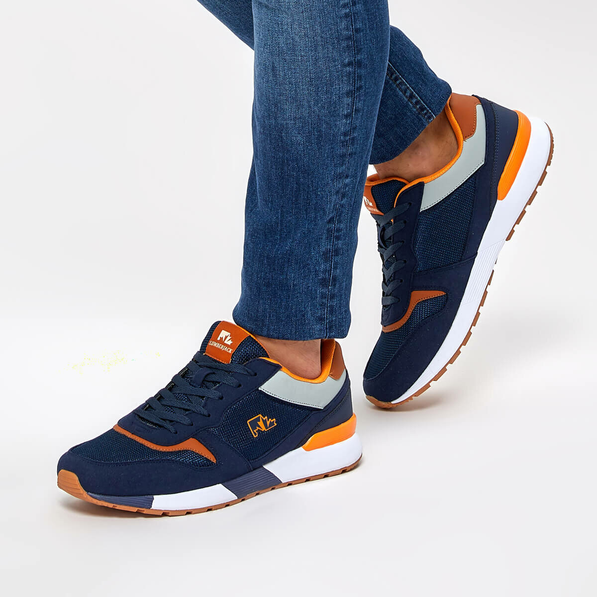 FLO ZELO Navy Blue Men 'S Sneaker Shoes LUMBERJACK