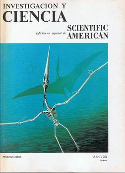 Magazine Science and Research N ° 55. April 1981. Pterosaurs