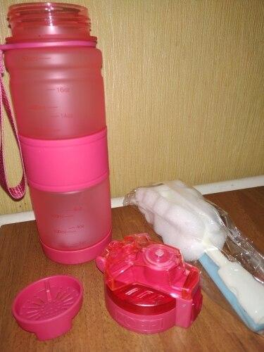 ZORRI Kids Water Bottle Creative Shaker Drink Camping Tour Tritan Lightweight Bottles for Outdoors Sport Gourde botella de agua-in Water Bottles from Home & Garden on AliExpress