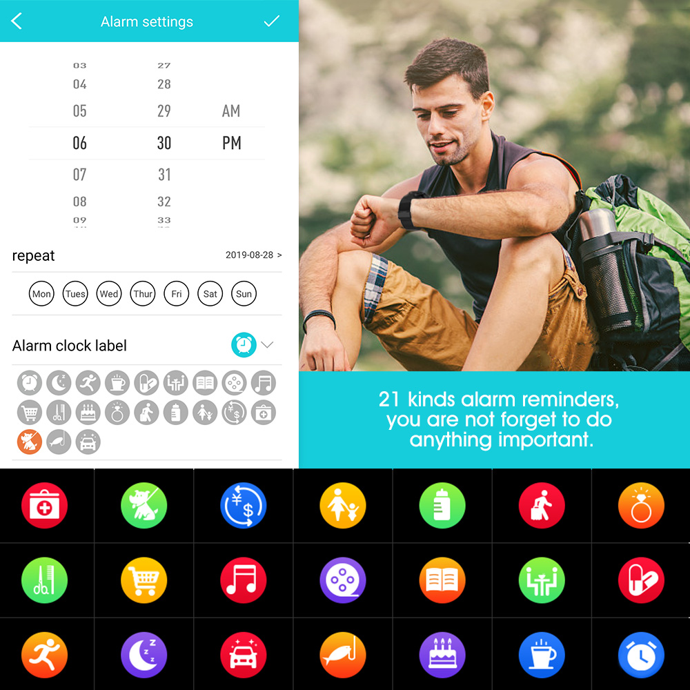 Смартчасы RUNDOING Q8 OLED дисплей умные часы женские  фитнес трекер датчик сердцебиения кровяное давление мужские часы 3