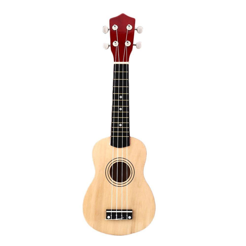 21 Inch Wooden Ukulele Small Guitar Wood Hawaiian Musical Instrument Ukelele Soprano 4 Strings Guitar Accessories
