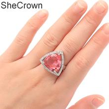 Romantic Golden Yellow Citrin, White CZ Ladies Party 925 Silver Ring US SZ 7.0