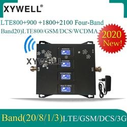 2020 nowość!! B20 LTE800 900 1800 2100mhz czterozakresowy wzmacniacz sygnału GSM GSM Repeater 2G 3G 4G wzmacniacz komórkowy LTE GSM DCS WCDMA
