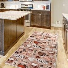 Кухонный ковер-кухонные аксессуары | кофейный цвет с подписями | DJT 80X150 Cm чашка кофе