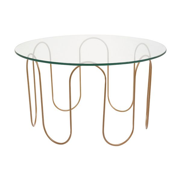 Centre Table (75 X 75 X 40 Cm) Crystal Iron